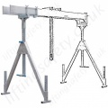 Aluminium Mobile Gantry Systems without Castors (Not Movable Under Load)