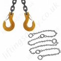 Lifting Chain Slings, Grade 8, 10, 12 and Stainless Steel.