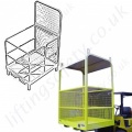 Manriding Baskets Fork Truck and Overhead Crane