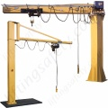 Swing Jib Cranes - Installed Floor & Wall Cranes