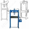 "Floor Mounted hydraulic workshop press ""Manual, Hand Pump"" Operated"