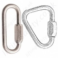 Semi-permanent Connectors / carabiners. Oval & Delta Links