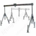 Aluminium Lifting Gantry Systems with Split / Folding Top Beam