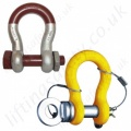 "Alloy Steel Lifting Shackles, Bow & ""D"""