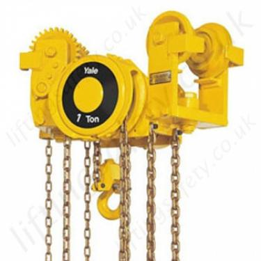 Yale Swivel Truck Low Headroom Trolley Hoist Combination