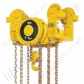 Yale VLRP and VLRG Low Headroom Hand Chain Hoist (Push and Geared Travel) - Range from 250kg to 6000kg