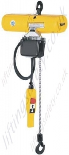 yale cps electric hoist yale cps lightweight electric chain hoist, 1ph 3ph 125kg or
