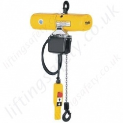 Yale CPS Lightweight Electric Chain Hoist, 1Ph / 3Ph - 125kg or 250kg