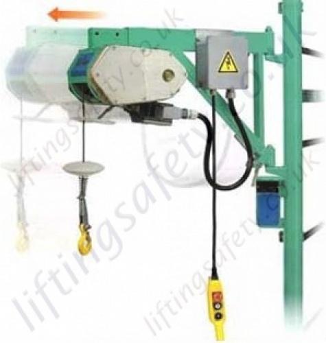 Electric Scaffold Hoist Lift : Imer tr special scaffold hoist v m working
