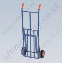 LiftingSafety Compact Folding Sack Truck - 120kg - 300 x 285mm Shoe - 1065mm Height