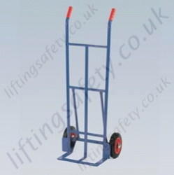 LiftingSafety 120kg Sack Truck - 200mm Rubber Wheels - 120kg - 160 x 370mm Shoe - 1220mm Height