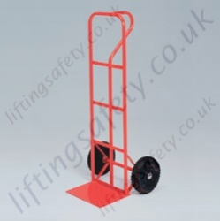 LiftingSafety 200kg Sack Truck - 260mm Air Tyres - 200kg - 230 x 370mm Shoe - 1300mm Height