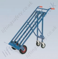 LiftingSafety Tri Truck Three Way Sack Truck - 200kg - 160 x 485mm Shoe - 1330mm Height