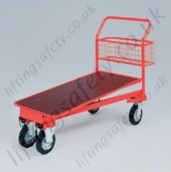 LiftingSafety Large Nesting Trolley with Basket - 400kg - 1180 x 600mm Shelf