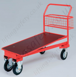 LiftingSafety Large Nesting Trolley with Basket, 400kg Capacity, 1180 x 600mm Platform