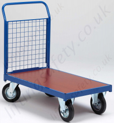 LiftingSafety Single Ended Mesh and Plywood Trolley, 500kg Capacity, Various Size Options Available