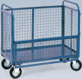 LiftingSafety Mesh Box Truck with One Side Half Drop Side, 500kg Capacity, Various Size Options Available
