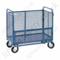 Mesh Box Truck with Half Hinged Gate