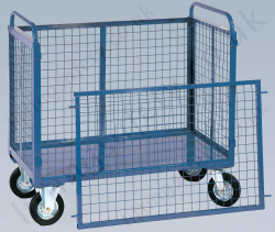 LiftingSafety Mesh Box Truck with Lift Off Side, 500kg Capacity, Various Size Options Available