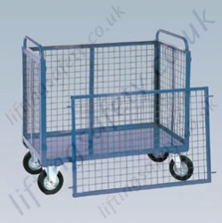 LiftingSafety Mesh Box Truck with Lift-off Gate - 350kg