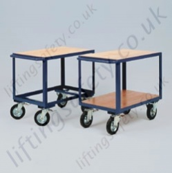 LiftingSafety Single or Two Shelf Heavy Duty Table Trolley - 350kg Available in Two Sizes