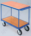 LiftingSafety Two Shelf Heavy Duty Table Trolley with Handle - 350kg Available in Two Sizes