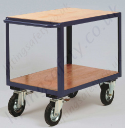 LiftingSafety Heavy Duty Table Trolley with Storage Shelf, 500kg Capacity, Various Size Options Available