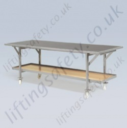 LiftingSafety Twin Shelf Heavy Duty Table Trolley - 2300 x 610mm Lower Shelf