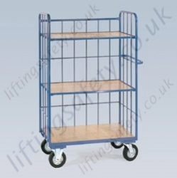 LiftingSafety Cage Trolley with Two Shelves or Three Shelves - 350kg Available in Two Sizes