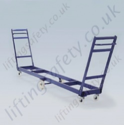 LiftingSafety Long Tyre Trolley Designed to Carry Tyres Safely - 3924 x 620 x 1300mm