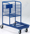 LiftingSafety Nesting Order Picking Trolley - 100kg - 475 x 550mm Platform, 400x 500/600 x 40mm
