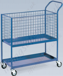 LiftingSafety Order Picking Trolley, 200kg Capacity, 915 x 460mm Basket