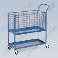 LiftingSafety Order Picking Trolley - 200kg - 915 x 460 Platform, 950 x 460 x 500mm Basket