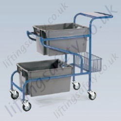 LiftingSafety Order Picking Trolley - 100kg - 390 x 200mm Platform, 400 x 170 x 150mm Basket