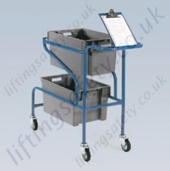 LiftingSafety Order Picking Trolley with Clipboard Holder - 100kg - 1155 x 420 x 925mm