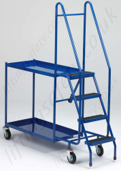 LiftingSafety Four Step Order Picking Trolley with Two Shelves