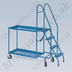 LiftingSafety Four Step Order Picking Trolley -with two or three shelves