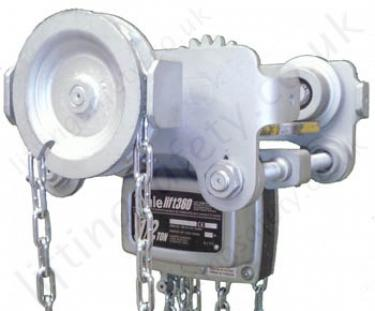 YaleLift ITG Spark Resistant Hoist on an Angle