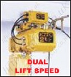 KITO ERM-DD Motorised Trolley Hoist with 2 Speed Lift and Travel - Range from 125kg to 5000kg