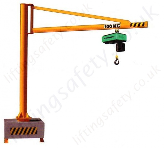 Mobile Crane Jib : Portable swing jib crane with c profile lifting beam