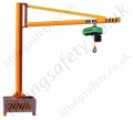 Portable Swing Jib Crane with 'C' profile lifting Beam - Range from 125kg to 500kg