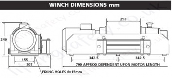 Ac winches 500 2000 with freespool