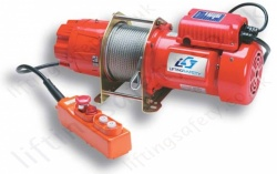 LiftingSafety Wire Rope Hoist, 1Ph 110v/240v or 415v 3ph Certified for Lifting - Range from 250kg to 500kg