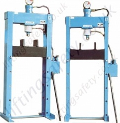 Hydraulic Press, Manual Hydraulic Operation (Lightweight construction for lighter duty applications) - 15,000kg and 20,000kg