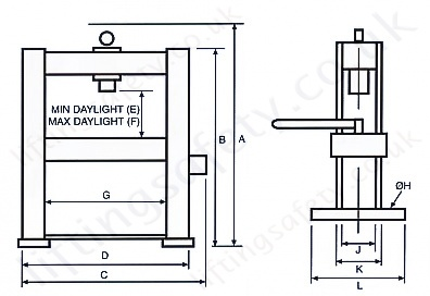 Hydraulic Press Manual Hydraulic Operation Lightweight