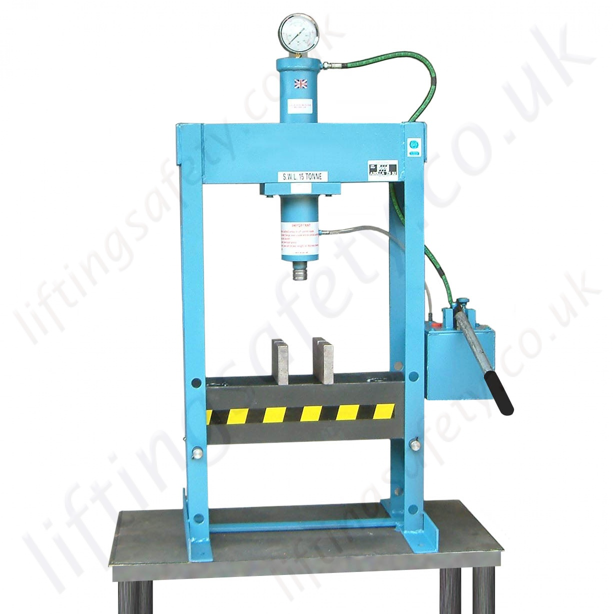 Hydraulic bench press manual hydraulic operation 12 000kg and 15 000kg liftingsafety Hydraulic bench press