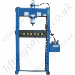 """Tall"" - Heavy Duty Hydraulic Press, Manual Hydraulic Operation 40,000kg to 100,000kg"