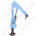 Socket Mounted Jib Crane / Davit Arm With Optional Hand Winch - 500kg or 1000kg