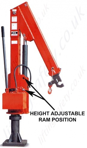 Height Adjustable Ram Position - 500kg Model