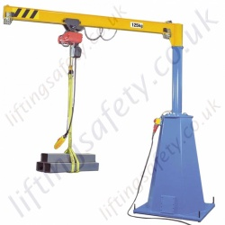 Mobile Pillar Jib Crane from 100kg to 500kg.